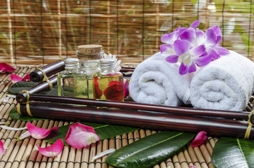 presentation of spa treatment on a tray