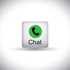 phone receiver chat vector button icon for messaging on mobile o