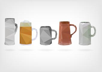 Low Poly Traditional Beer Mug