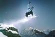 Leinwanddruck Bild - Snowboard Jump