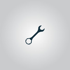 wrench icon , vector illustration