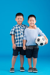 Two smiling Chinese boys