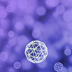 Purple wireframe background