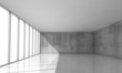 Abstract architecture background, empty white interior - 81346911