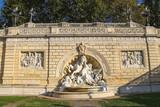Fountain in the park Montagnola (Parco della Montagnolla) in the