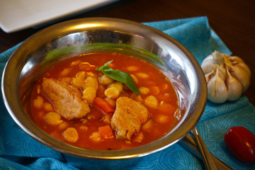 chickpeas and turkey stew
