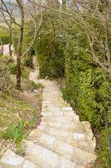 Escalier serpentant Mirmande