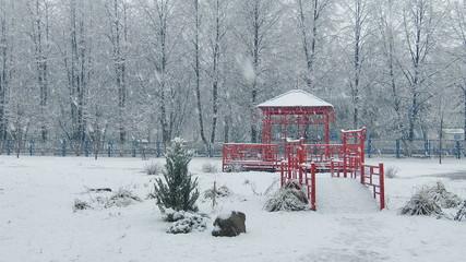 Mega extra big global snowfall loop china japan style