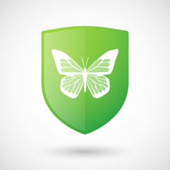 Shield icon with a butterfly