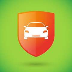 Shield icon with a car