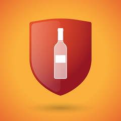 Shield icon with a bottle of wine