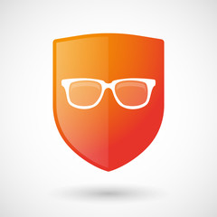 Shield icon with a glasses