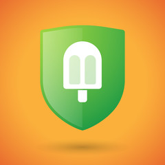 Shield icon with an ice cream