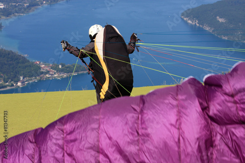 paraglider launching wing - 81347703