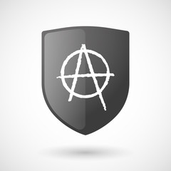 Shield icon with an anarchy sign