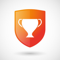 Shield icon with an award cup