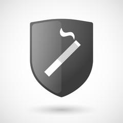 Shield icon with a cigarette