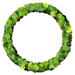 Ring made from green leaves.