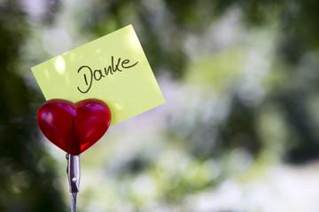 "handwritten german word ""Danke"" (thank you)"