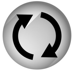 Spinning, rotating arrows in circle for rotation, circular motio