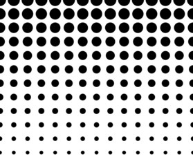 Horizontally Seamless Black and White Dotted Pattern