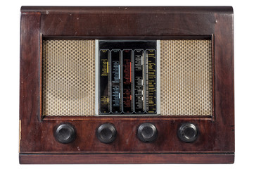 old classic radio vintage isolated