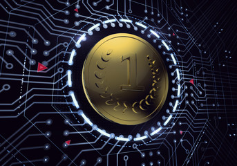 Digital euro currency in electronic cyberspace