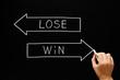 Win Lose Arrows Concept