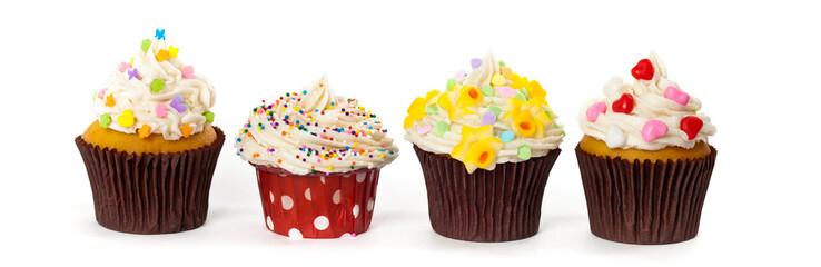 Gourmet Spring Easter Cupcakes. Selective focus.