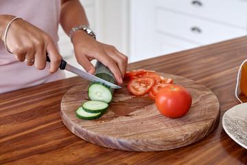 salad woman kitchen