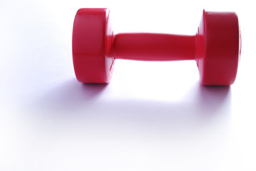 Red Dumbbell Isolated on White Backgrounds