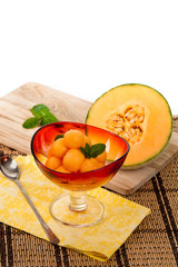 Cantaloupe Melon. Selective soft focus.