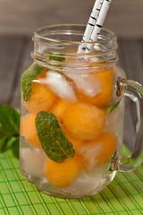 Summer Melon Drink. Selective focus.