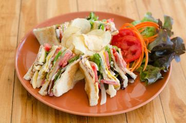 Healthy Tuna Sandwich with Vegetable