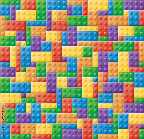 Leinwandbild Motiv Plastic Locking Block Puzzle