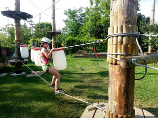 Fun in adrenalin park