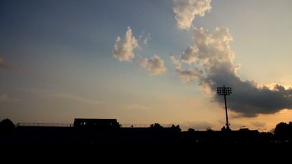 Football Stadium Silhouette