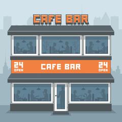 Facade of a cafe