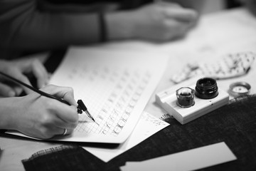 Practicing beautiful writing