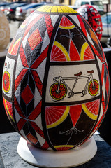Great traditional Ukrainian Easter egg painted by hand made