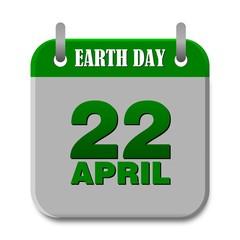 Earth Day 22 april Calendar - illustration