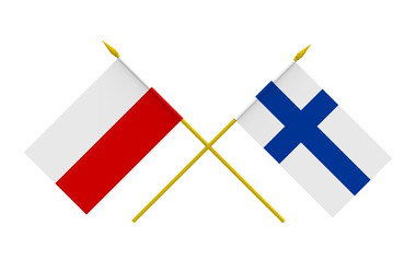 Flags, Finland and Poland