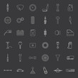 Vector car parts. Icons set. - 81355947