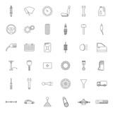 Car parts. Icons set.