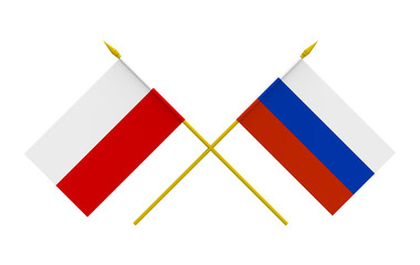 Flags, Poland and Russia