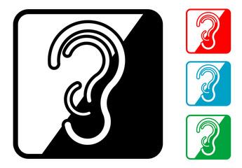 Icono simbolo audio en varios colores