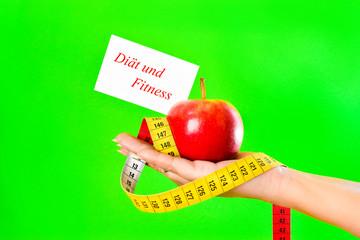 Diät Fitness Apfel Hand