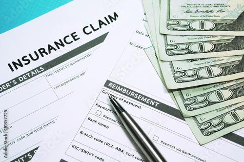 Leinwandbild Motiv Insurance claim concept
