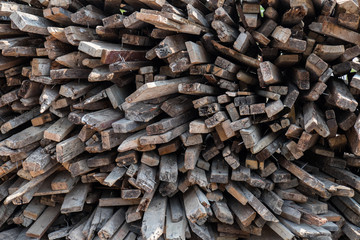 background Pile of Wood for Building a new house