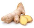 Leinwanddruck Bild - Fresh ginger root or rhizome isolated on white background cutout